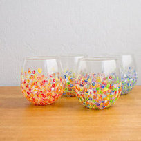 DIY Colorful Hand-Dotted Tumblers   Celebrations!   Scoop.it