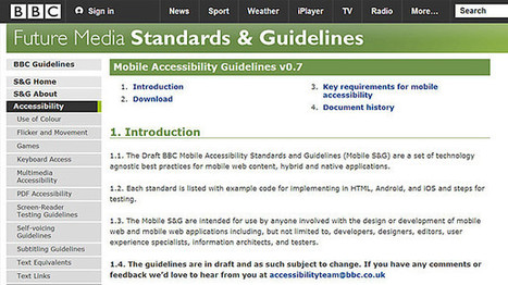 BBC - Blogs - Internet blog - Draft BBC Mobile Accessibility Standards and Guidelines | CW - Usefull Web stuff | Scoop.it