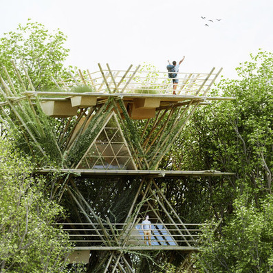 Penda's modular bamboo hotel could be EXPANDED horizontally and vertically | The Architecture of the City | Scoop.it