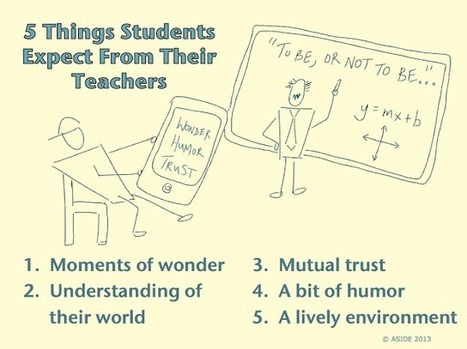 5 Things Students Expect From Their Teachers | Leadership, Innovation, and Creativity | Scoop.it