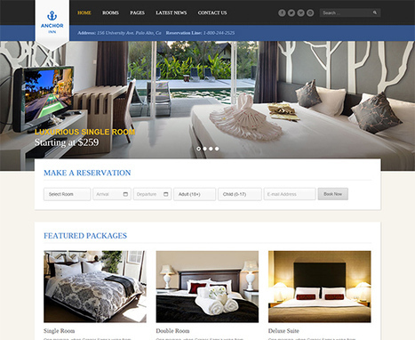 20 Best Hotel Website Templates | WebsiteDesign | Scoop.it
