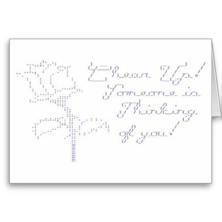 ASCII Rose - Cheer Up Greeting Card at Zazzle.ca | ASCII Art | Scoop.it