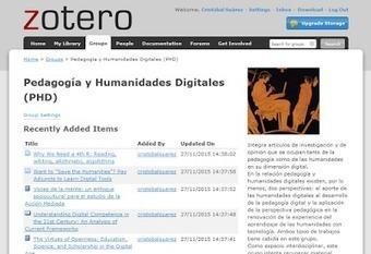 Edición colaborativa en Pedagogía y Humanidades Digitales (PHD) ZOTERO | Educacion, ecologia y TIC | Scoop.it