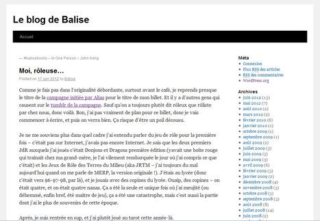 Moi, rôleuse… | Le blog de Balise | Jeux de Rôle | Scoop.it