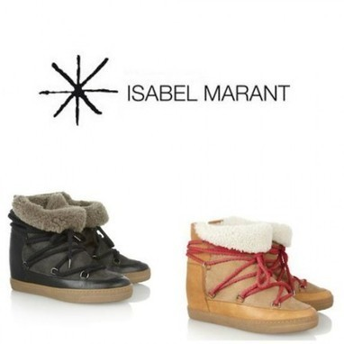 "My Fashion Style : Isabel Marant ""Nowles Shearling-Lined Leather Concealed Wedge Boots"" : by Styling Amsterdam 