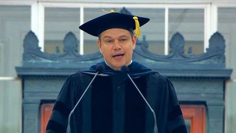 Matt Damon uses tech, sci-fi to deliver powerful message to MIT grads | NIC: Network, Information, and Computer | Scoop.it