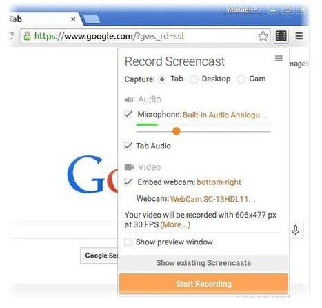 screencastify, plugin de Chrome para grabar la pestaña, la webcam o el escritorio | Aprendiendoaenseñar | Scoop.it
