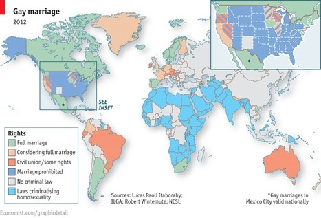 Legal Status of Gay Marriage Around the World | A Geography Scrapbook | Scoop.it