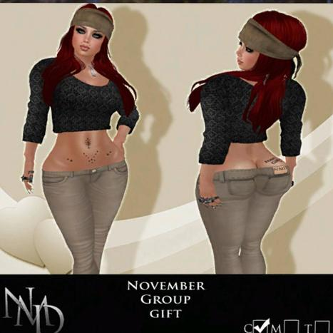 Meg Sweater and Pant November 2013 Group Gift by NMD | Teleport Hub - Second Life Freebies | Second Life Freebies | Scoop.it