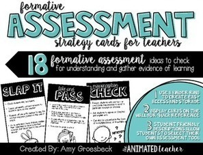 Formative Assessment Strategy Cards | School-based Professional Learning | Scoop.it