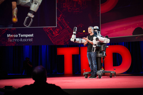 Meet EDI the Robot: Marco Tempest at TED2014 | TED Blog | Open innovation | Scoop.it