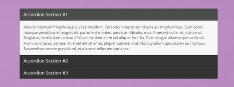 Creating an Accordion with HTML, CSS & jQuery | Inspirational Pixels | Inspirational Pixels | Scoop.it