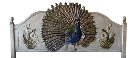 Peacock Hand Painted Mexican Headboard- Queen | Peacock Hand Painted Mexican Headboard- Queen | Scoop.it