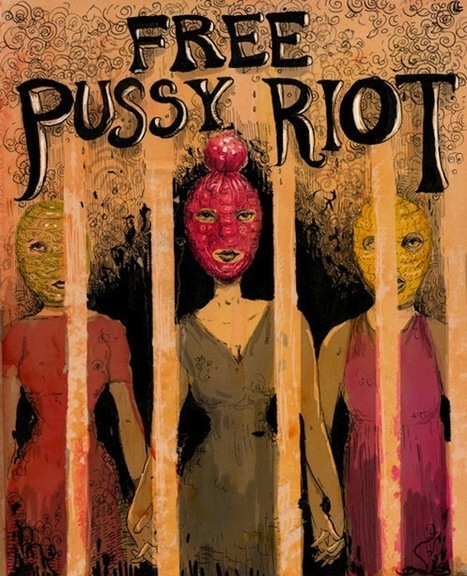 Free Pussy Riot poster benefits defense fund | Arte AHDIME | Scoop.it