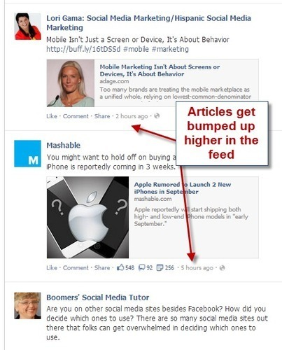 Facebook News Feed Updates, How Marketers Should Respond to Story Bump | Social Media Examiner | Social Media Bites! | Scoop.it