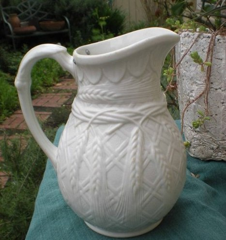 Antique Salt Glaze Pitcher - Wheat Design - The Vintage Village | Vintage Passion | Scoop.it