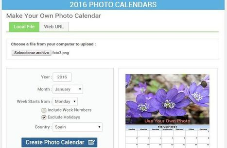 Utilidad web para crear tu Foto Calendario 2016 | interNET | Scoop.it