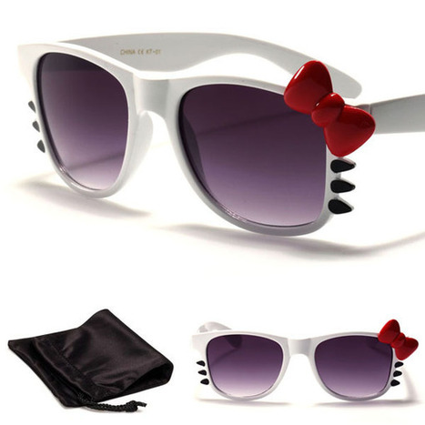 Hello Kitty Women's Bow & Whiskers Fashion Designer Sunglasses White | the Hello Kitty Collectionary | women sunglasses | Scoop.it
