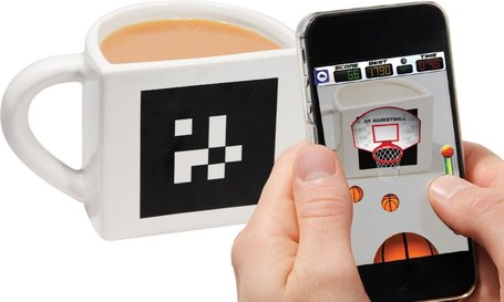 Funnny. Mug + Augmented Reality = The AR Basketball App Mug | Augmented Reality News by AR23D Studio | qrcodes et R.A. | Scoop.it