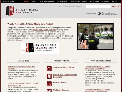 Citizen Media Law Project | Top sites for journalists | Scoop.it