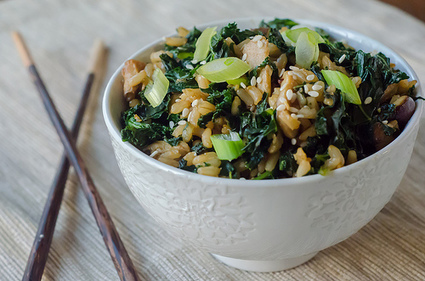 Pink Parsley: Kale and Shiitake Fried Brown Rice | delphine's recipes | Scoop.it