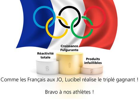 Comme nos Français, Lucibel a réalisé le triplé gagnant !   Actu Lucibel   Scoop.it