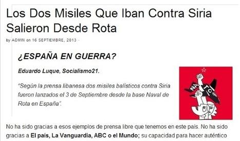 Bases de OTAN convierten España en blanco de ataque en caso de guerra como ya sucedió con crisis misisles de Siria   La R-Evolución de ARMAK   Scoop.it