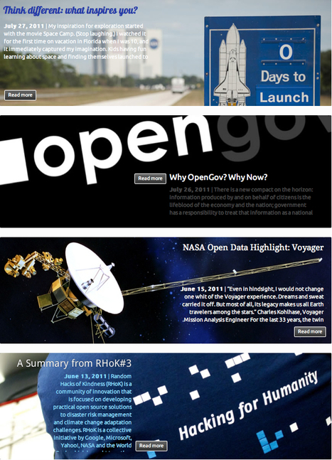 NASA launches new open government site with open source tools. | Information Wants to be Free | Scoop.it