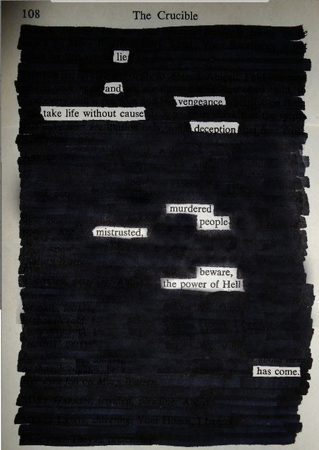 Blackout Poetry photo | English Classes | Scoop.it