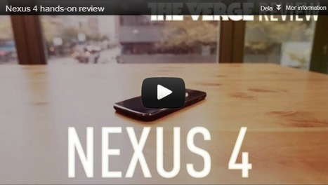 LG Nexus 4 recenseras i USA: kallas bästa androidmobilen någonsin | Mobilt | Scoop.it