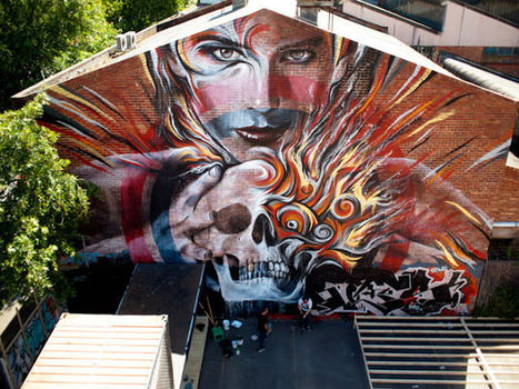 Streetart: Rone x Meggs New Mural In Melbourne | World of Street & Outdoor Arts | Scoop.it