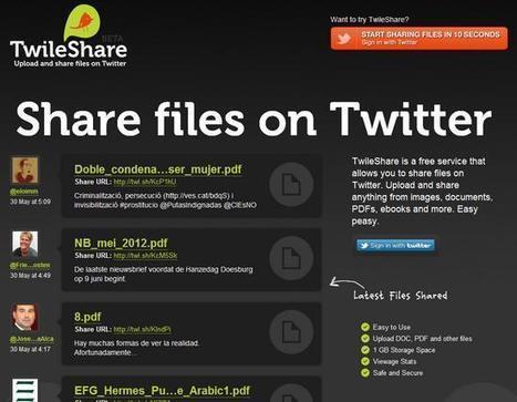 Twileshare, comparte cualquier clase de fichero a través de Twitter | GeeksRoom | Cajón de sastre Web 2.0 | Scoop.it