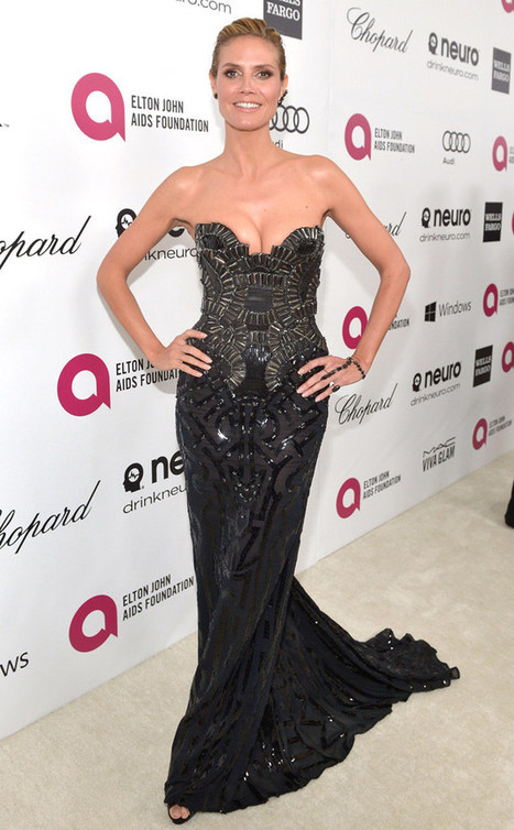 Heidi Klum's Boobs Picked the Perfect Oscars After-Party Dress - E! Online | contemporary fashion design | Scoop.it