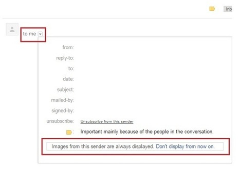 How To Disable Always Display Images From In GMail | prowebguru | Scoop.it