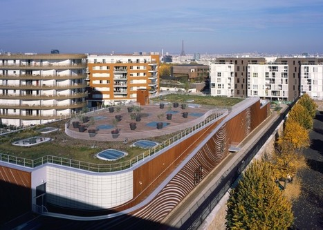 Groovy green-roofed swimming pool in Paris embraces Feng Shui | Greenroofs & Urban biodiversity | Scoop.it