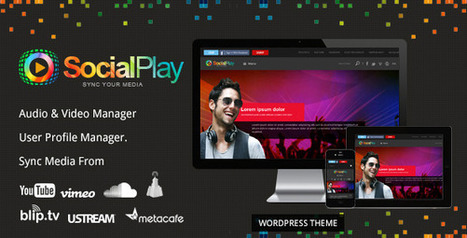 SocialPlay v1.2.1 Media Sharing Wordpress Theme | Download Free Full Scripts | wordpress themes | Scoop.it