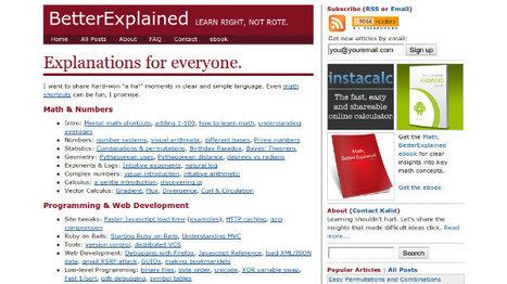 Sumando conocimiento: Better Explained y Open Book Project | Educación a Distancia y TIC | Scoop.it
