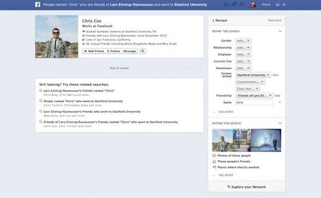 Graph Search : Facebook dévoile son moteur de recherche sémantique et sociale | Tout sur Facebook et les pages facebook | Scoop.it