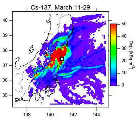 Simulation shows Iodine and Cesium may have reached 15 prefectures | Nuclear News | What The Physics? | Scoop.it