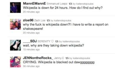 De jeugd wordt wakker: Wikipedia is down | Mediawijsheid ed | Scoop.it