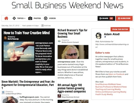 Oct 27 - Small Business Weekend News | Business Futures | Scoop.it
