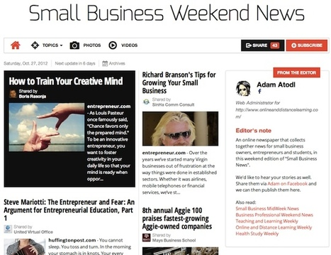 Oct 27 - Small Business Weekend News is out | Transformations in Business & Tourism | Scoop.it