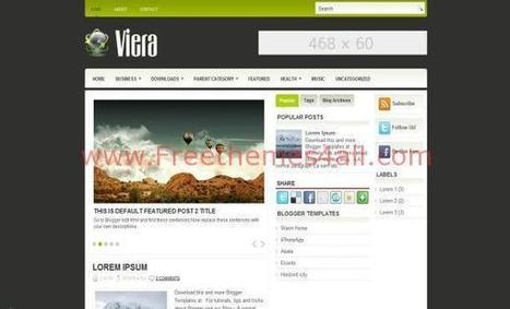 Free Jquery Gray Green Blogger Template Download | Blogger themes | Scoop.it