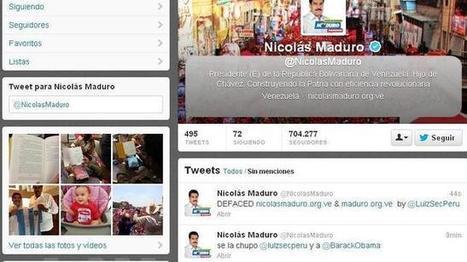 Hackean la cuenta de Twitter de Nicolás Maduro durante la jornada ... - ABC.es | Political influence on Social Networking | Scoop.it