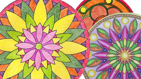 Mandalas, creatividad y distensión - Dia a Dia | para colorear | Scoop.it