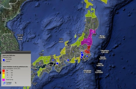 Japan map of Japan Radiation Maximum by Prefecture by Do,Ken,To,Fu - TargetMap   Mapping & participating: Fukushima radiation maps   Scoop.it