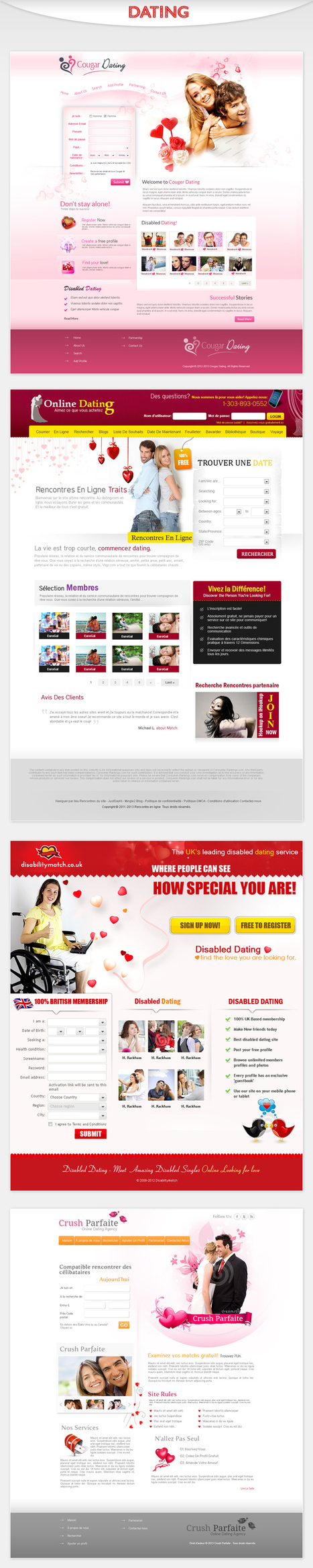 Dating Website Design Works | Web Design | Scoop.it