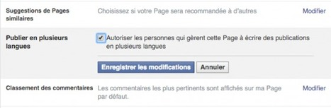 Facebook teste la publication en plusieurs langues sur les Pages | Social Media Curation par Mon-Habitat-Web.com | Scoop.it