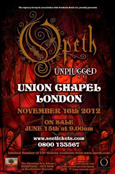 OPETH Frontman Discusses Band's First-Ever 'Unplugged' Concert - Nov. 26 ... - BLABBERMOUTH.NET | cover bands | Scoop.it