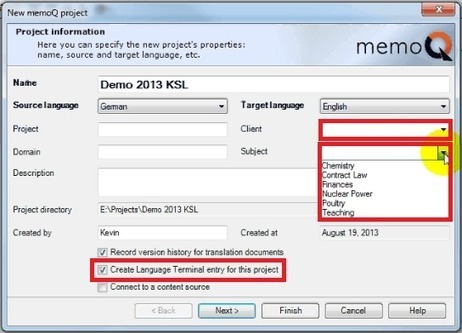 Translation Tribulations: Selectable metadata for memoQ 2013 projects (by Kevin Lossner) | Translator Tools | Scoop.it